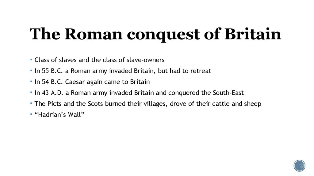 The Roman conquest of Britain