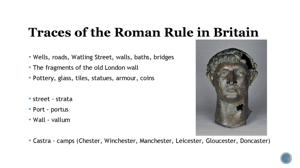 Traces of the Roman Rule in Britain