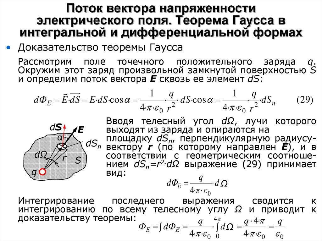Решение задач теорема остроградского гаусса как решить задачу по физике 9