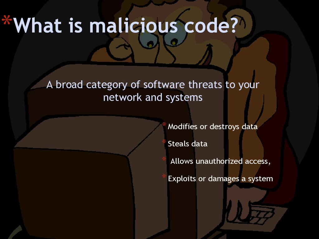 What is malicious code?