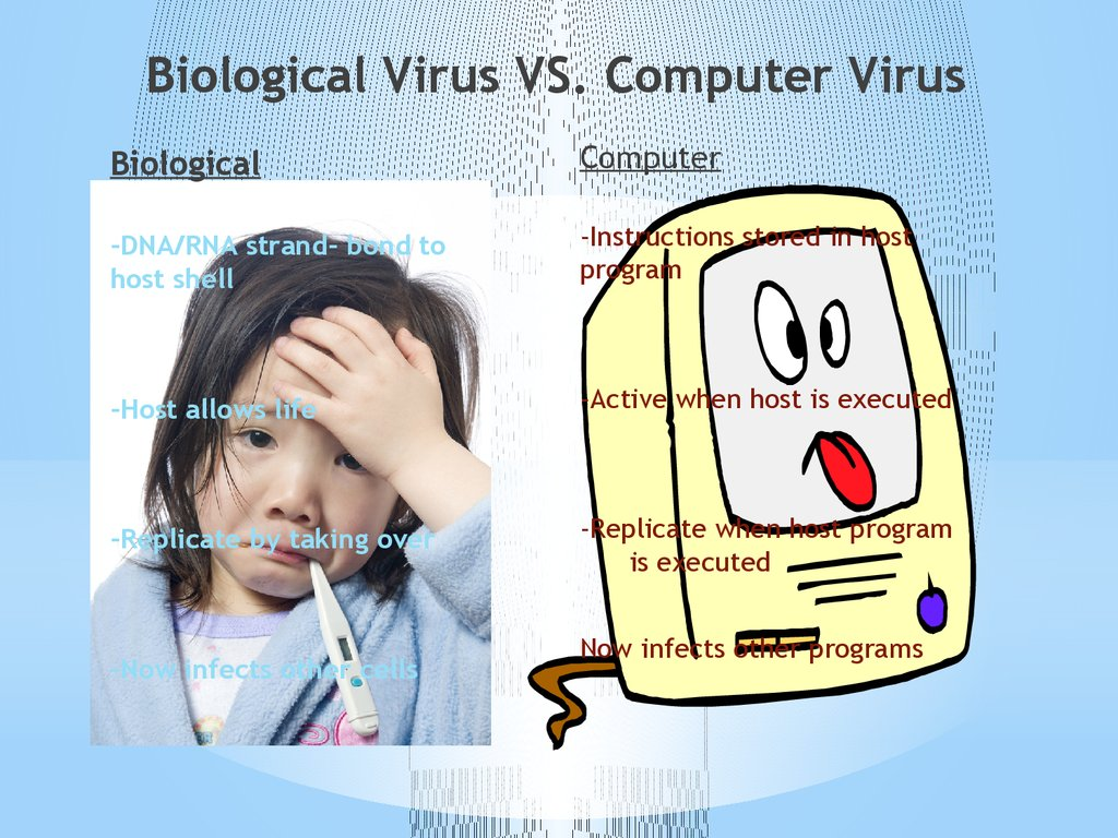 Biological Virus VS. Computer Virus