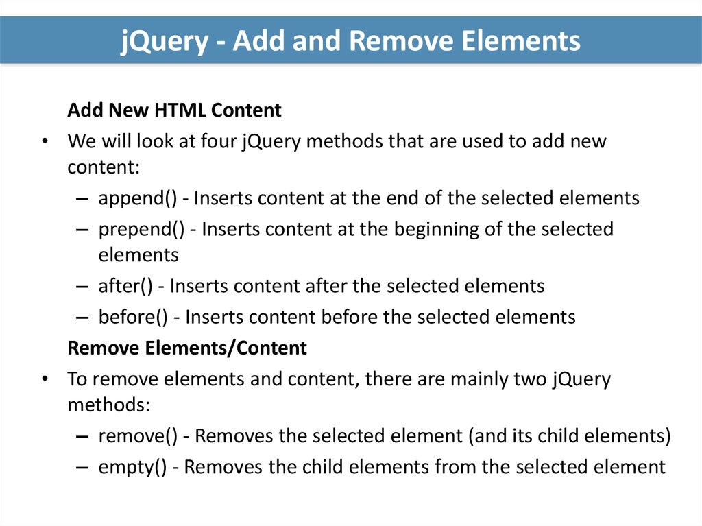 Introduction to jQuery - online presentation