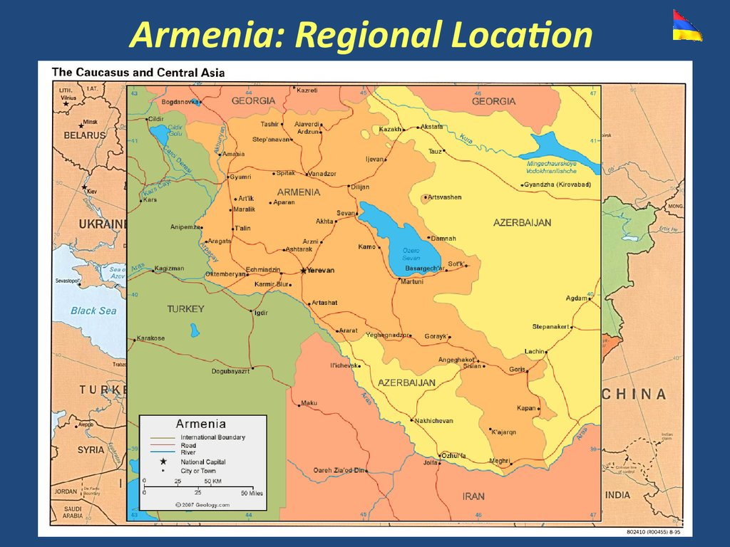 Armenia: Regional Location