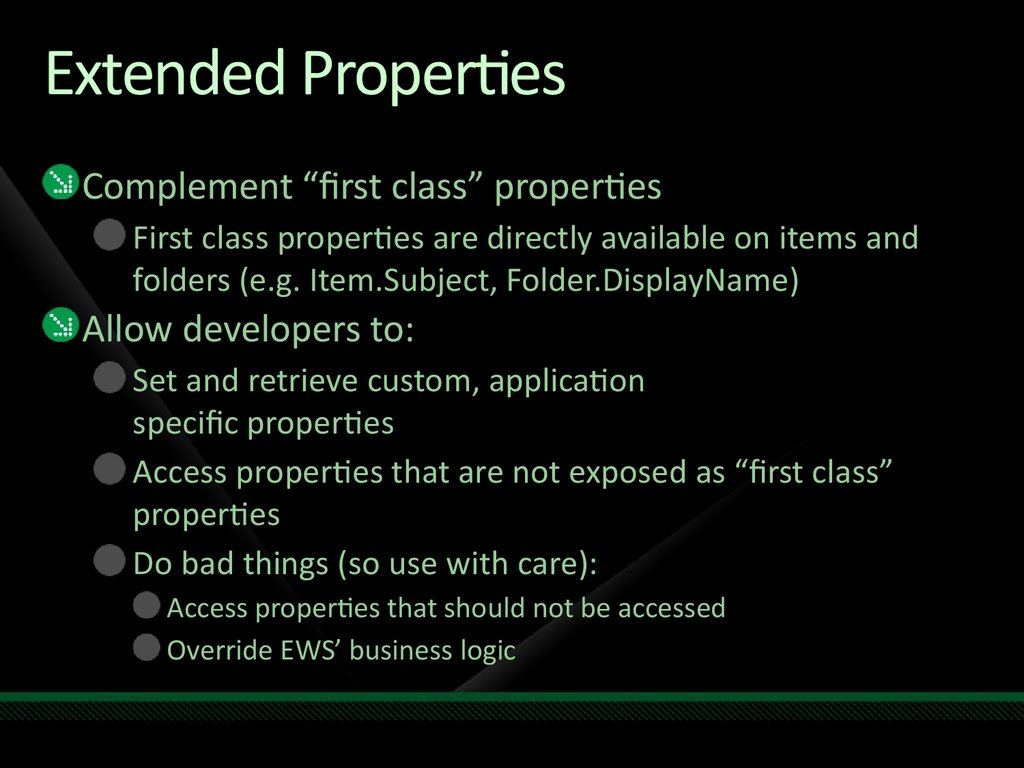 Extended Properties