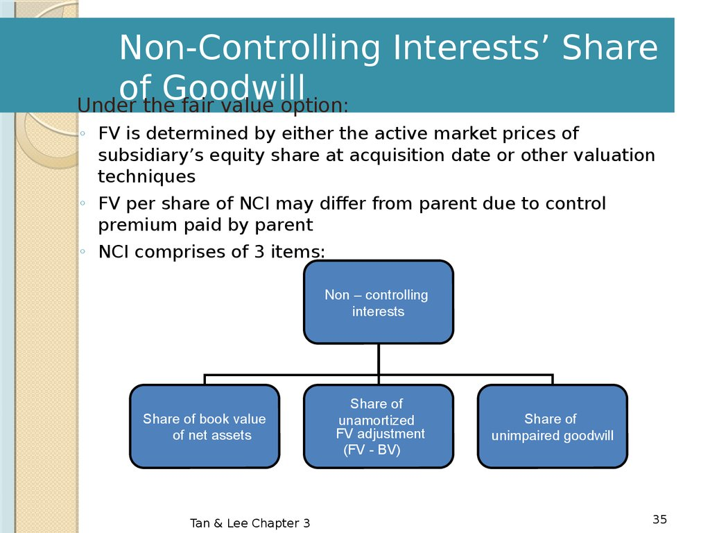 Non controlling interests and goodwill accounting essay
