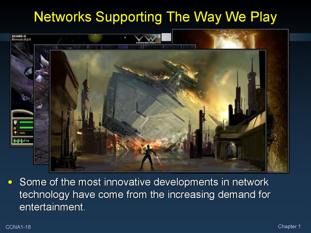 Networks Supporting The Way We Play