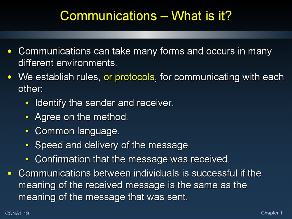 Communications – What is it?