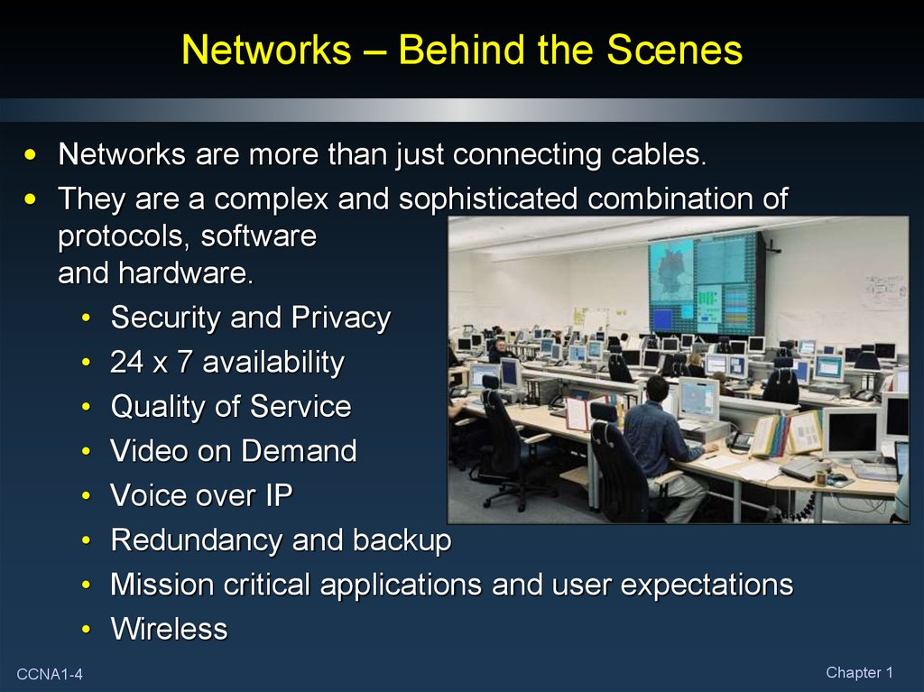 Networks – Behind the Scenes