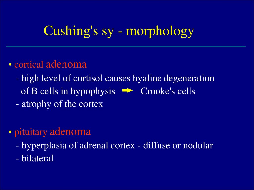 Cushing's sy - morphology