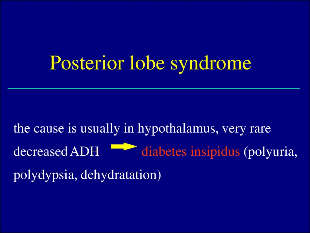 Posterior lobe syndrome