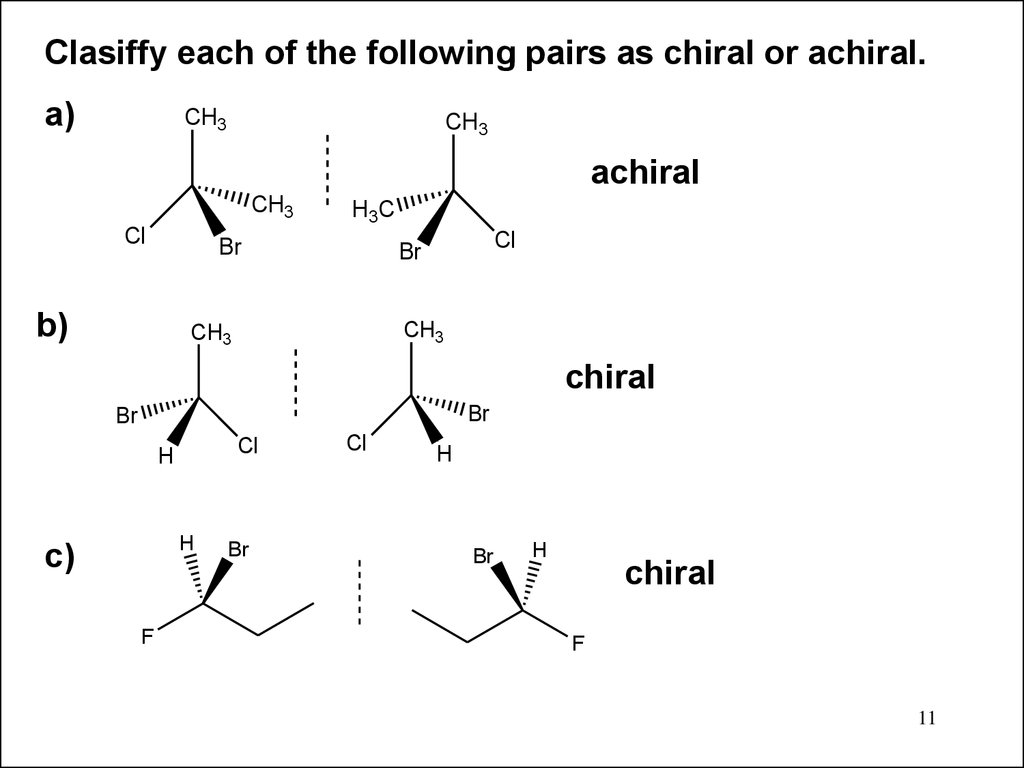 Stereochemistryisomers Are Different Compounds Online Presentation