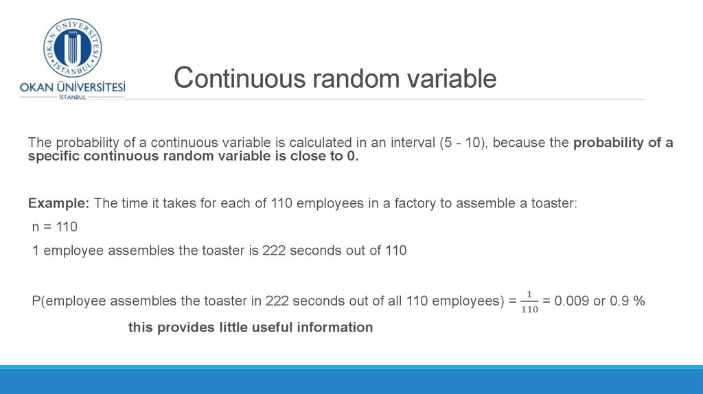 Random Variables Discrete Random Variables Week 6 2 Online