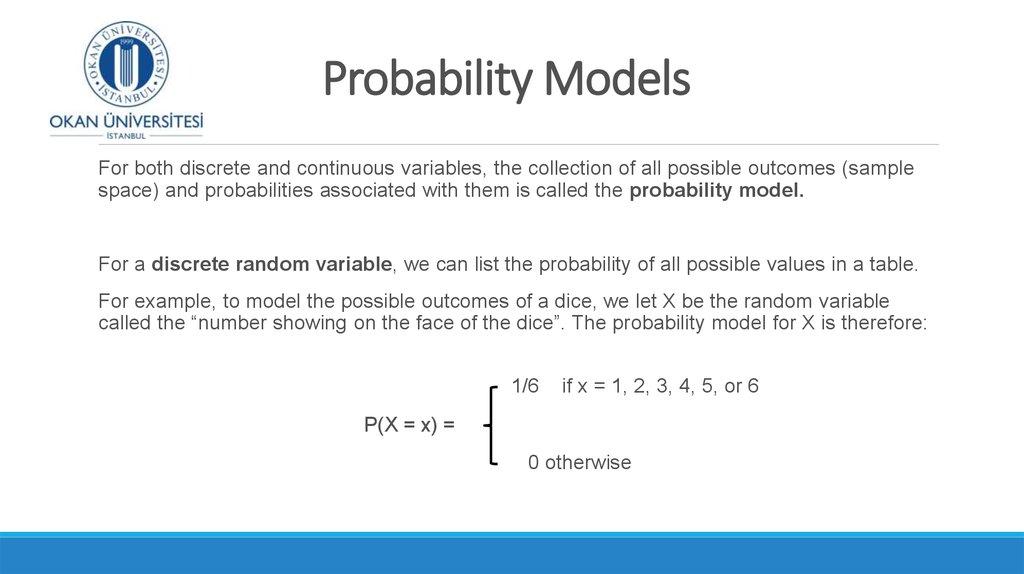 Random Variables Discrete Random Variables Week 6 2 Online