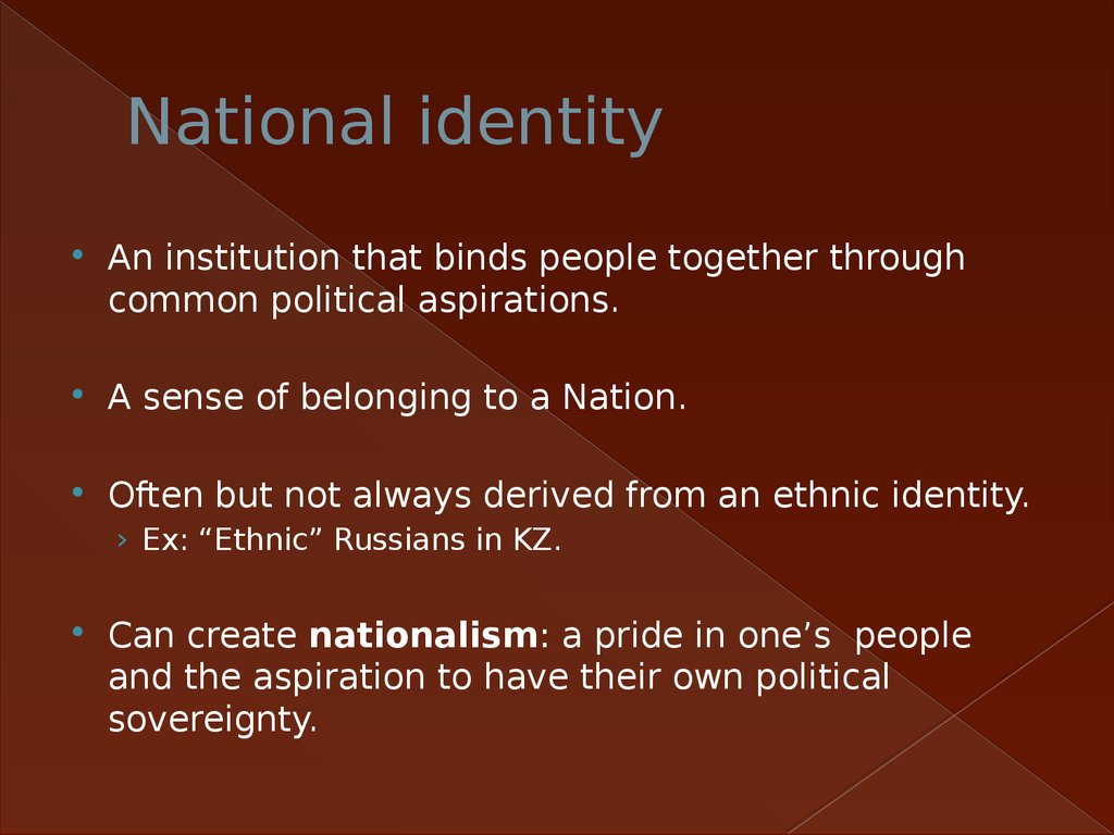 nationalism and national identity essay National identity is the sense of anation as a cohesive whole, as represented by distinctive traditions, culture, language and politics a person's national identity is his/her identity and sense of belonging to one state or to one nation, a feeling one shares with a group of people, regardless of.