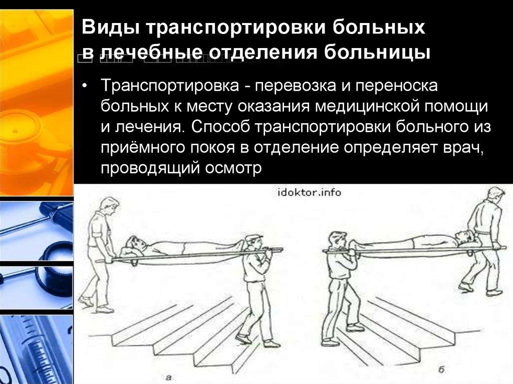 Правила транспортировки пациента в лечебное отделение