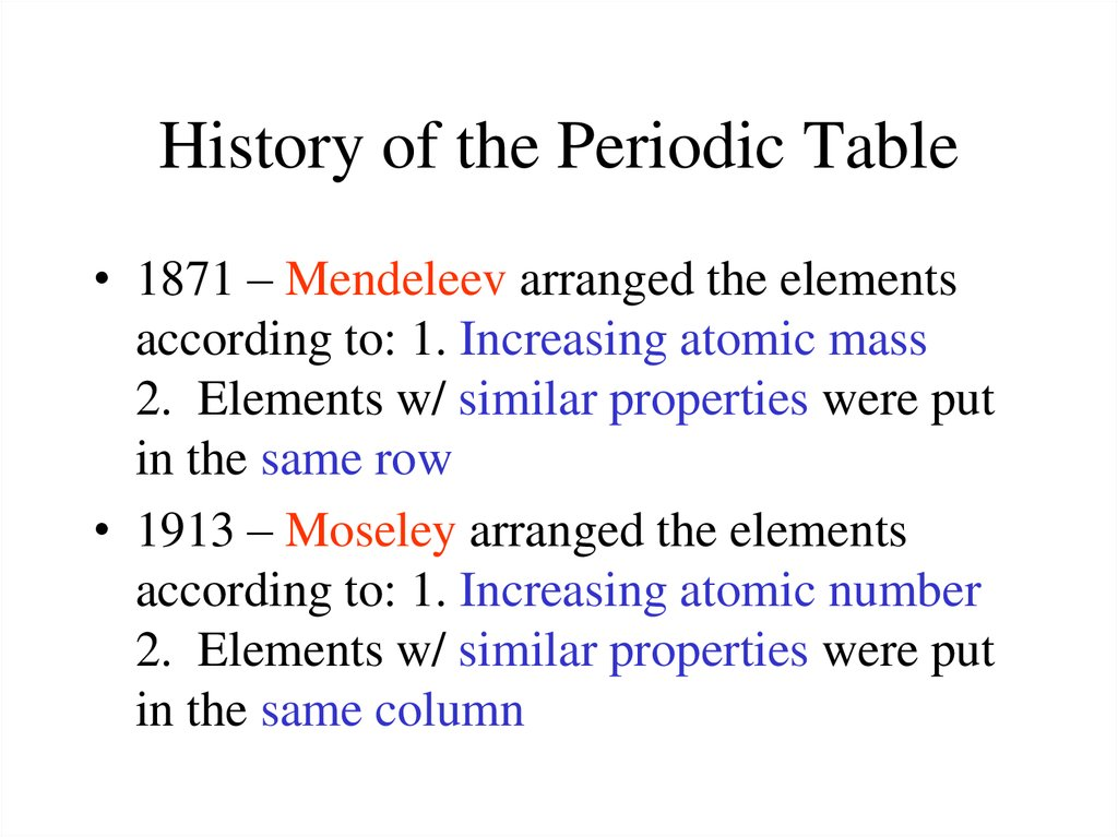 Periodic table and trends online presentation history of the periodic table urtaz Image collections