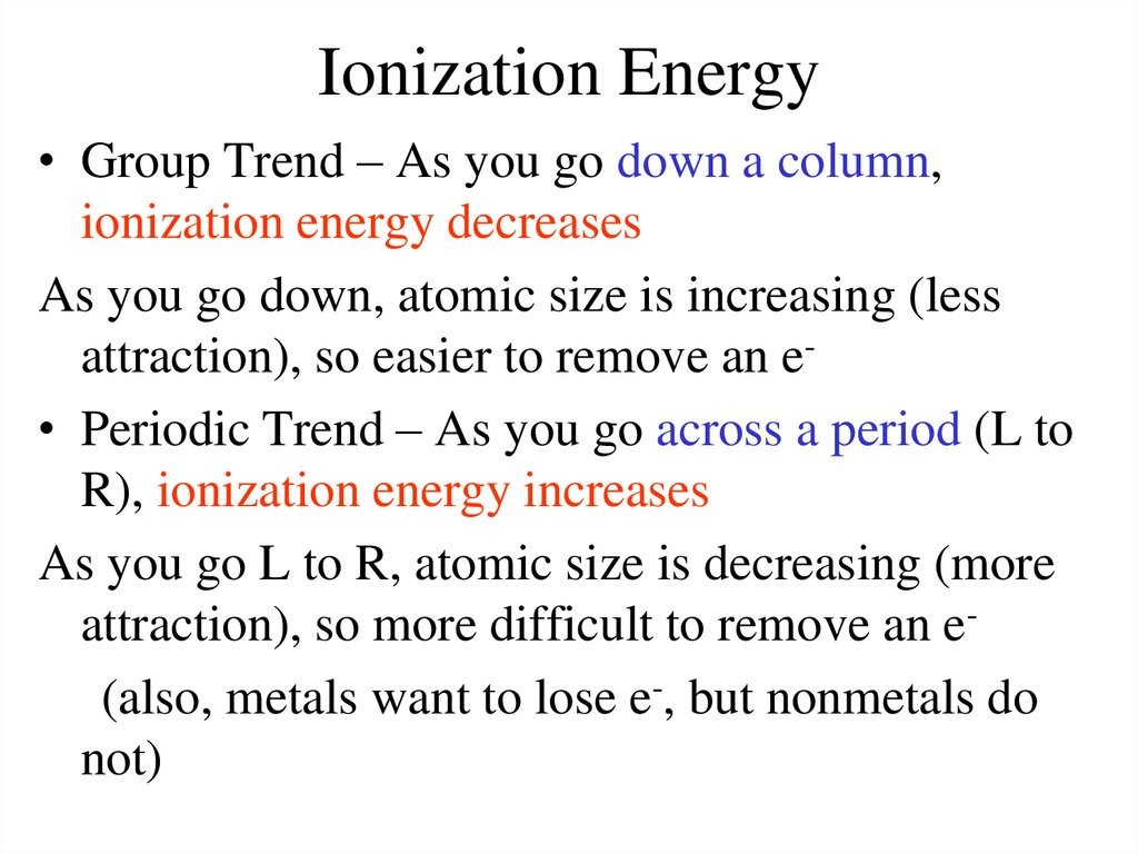 Periodic Table And Trends Online Presentation