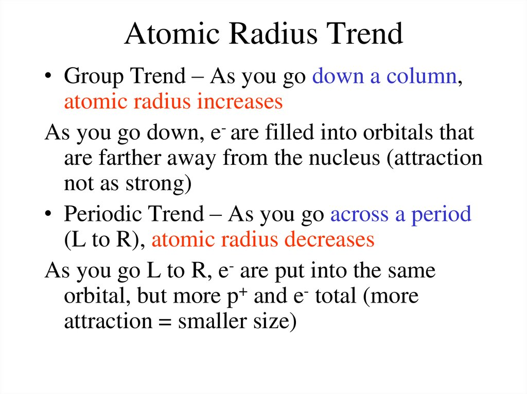 Periodic table and trends online presentation atomic radius trend group trend as you go urtaz Images