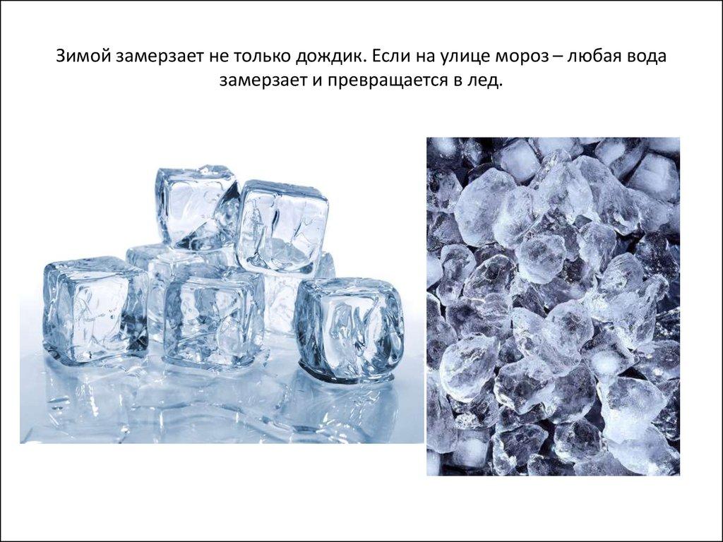 картинки как вода превращается в лед поверхность