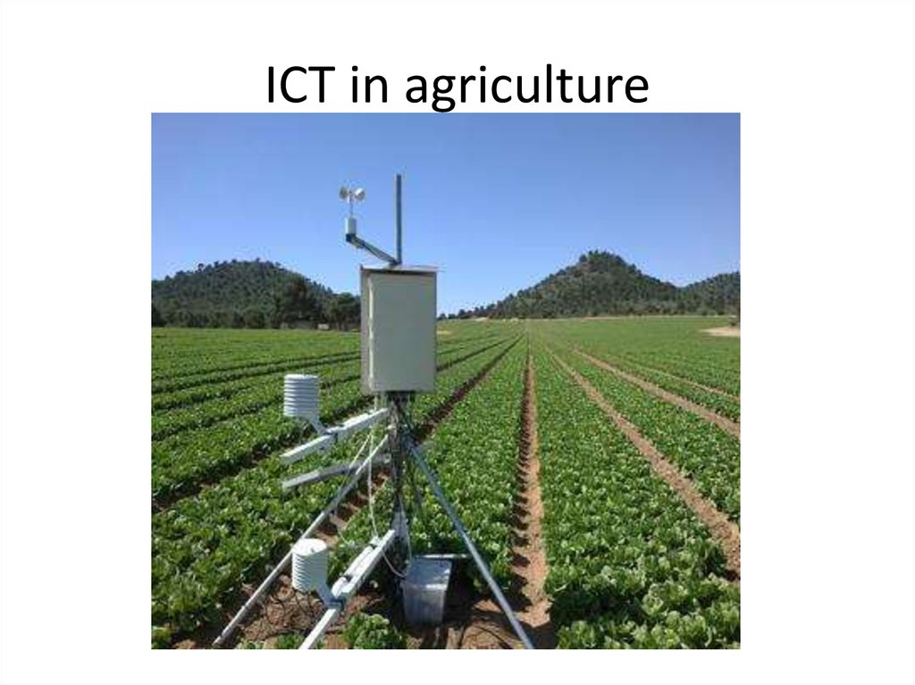 ICT in agriculture