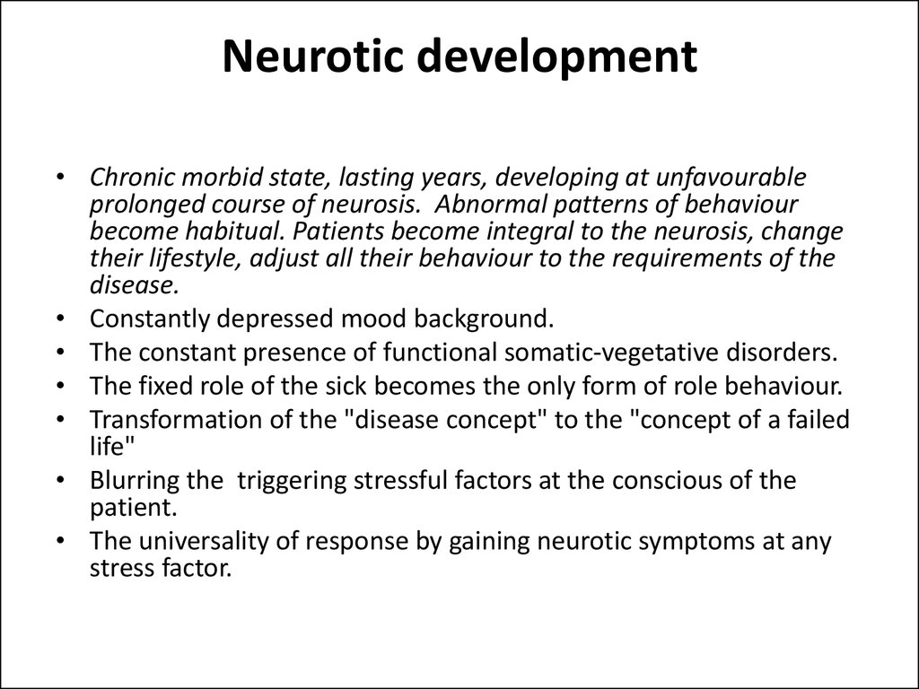 Neurotic development