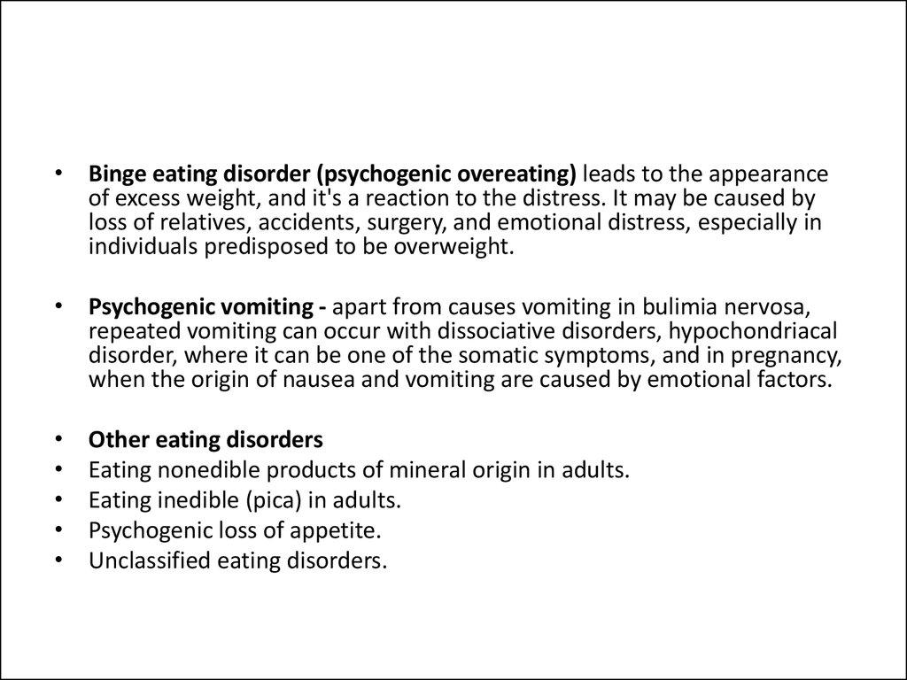 Pathology, syndromology and nosological forms of psychogenic