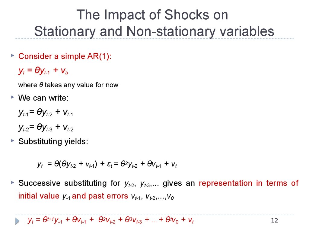 The Impact of Shocks on Stationary and Non-stationary variables