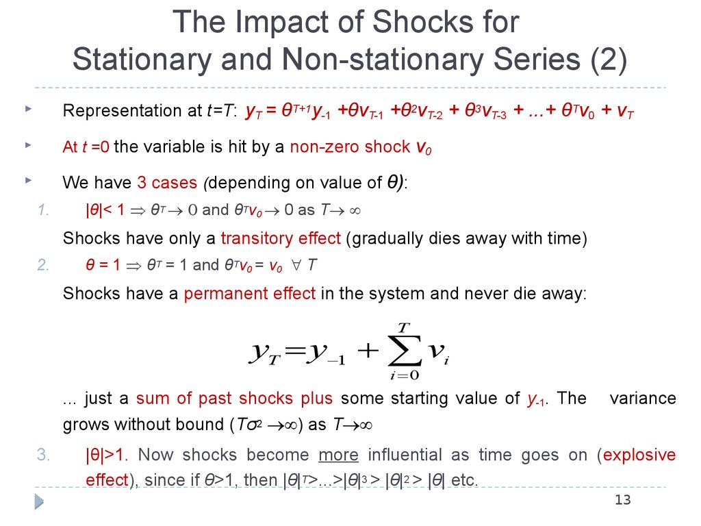 The Impact of Shocks for Stationary and Non-stationary Series (2)
