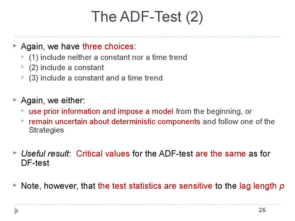 The ADF-Test (2)