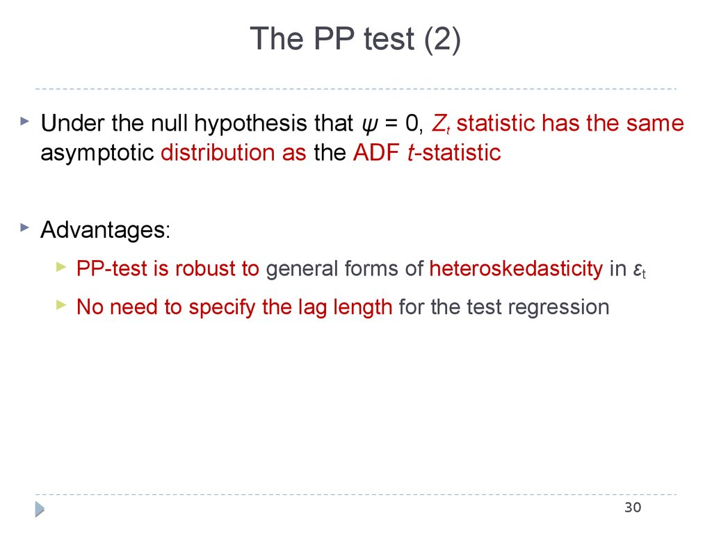The PP test (2)