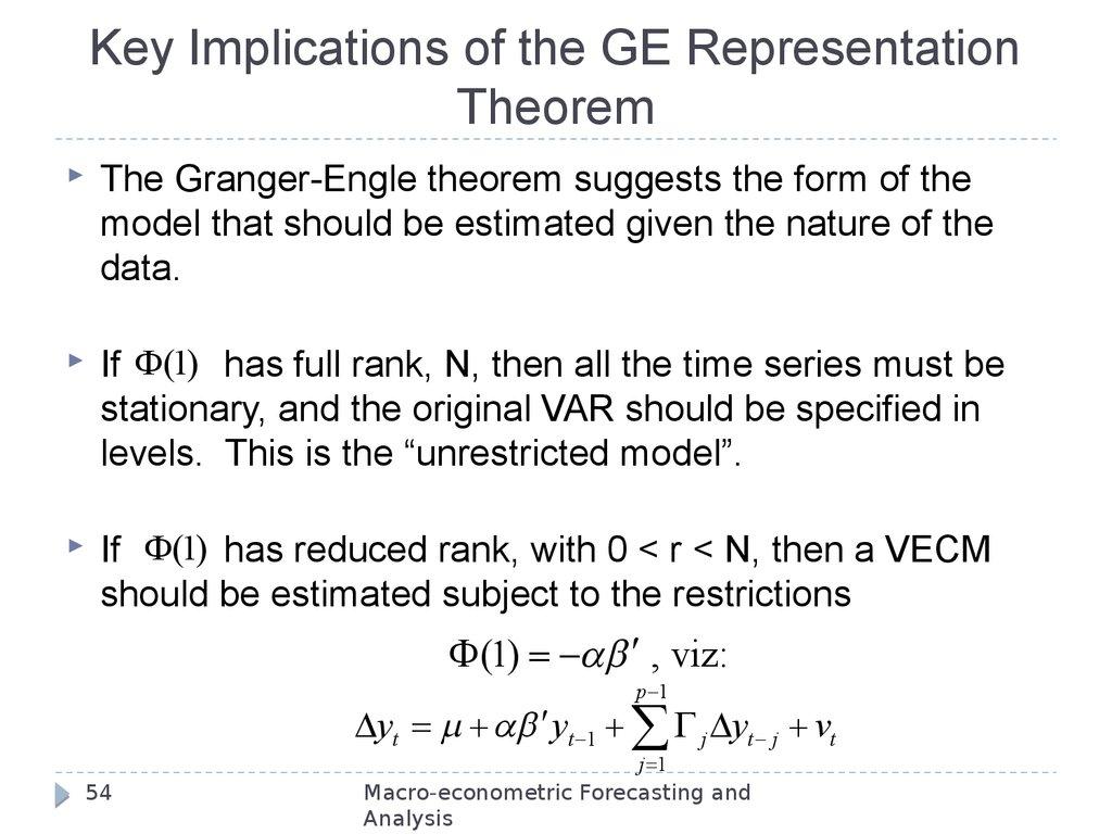 Modeling non-stationary variables - online presentation