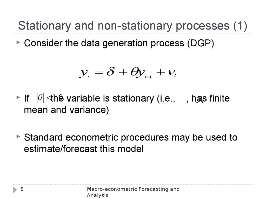 Stationary and non-stationary processes (1)