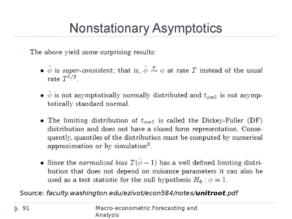 Nonstationary Asymptotics