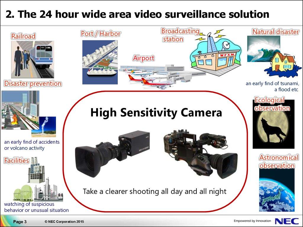 High Sensitivity Camera Nec Corporation Online Presentation