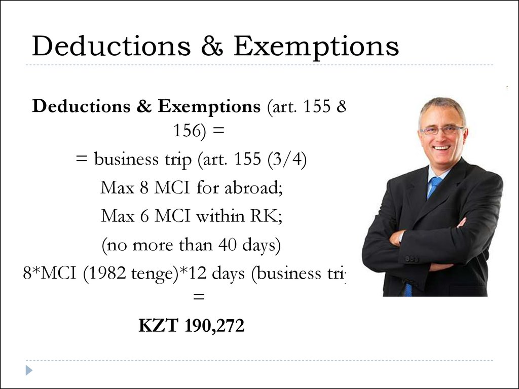 Deductions & Exemptions