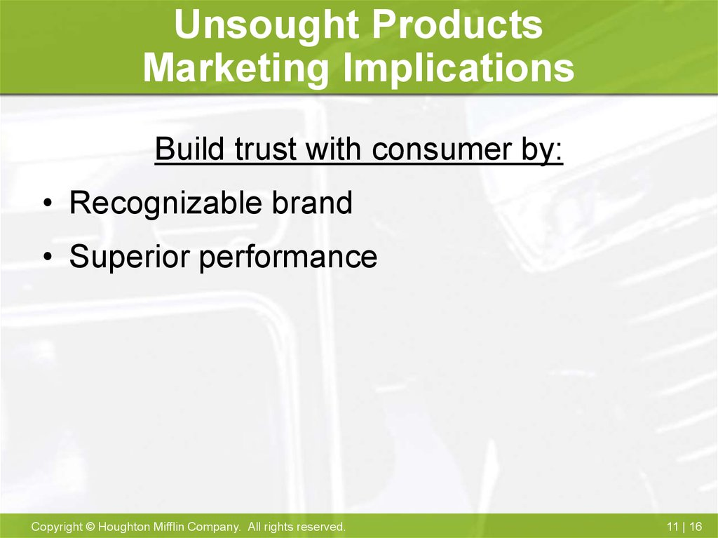 marketing considerations for consumer products