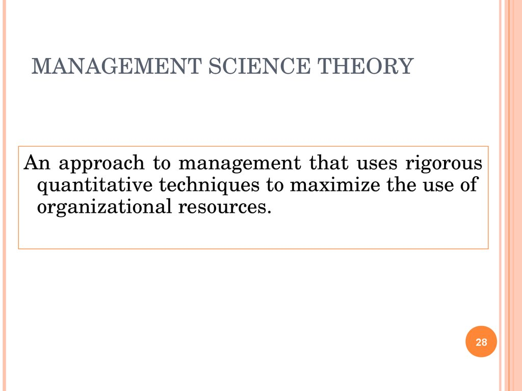 "the evolution of management theory notes Management theories ""classical & neoclassical approaches""  modern management thought can be analysed by examining the evolution of society as it has passed from:  attempts to understand and develop a theory of management can be traced back to the earliest effort of man to achieve goals by working in groups."