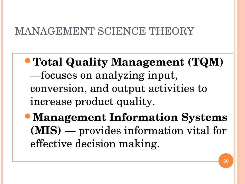 Management theories.