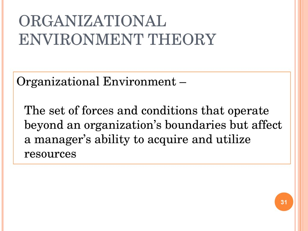 organization management theory Description management and organization theory offers a summary and analysis of the 40 most popular, researched, and applied management and organization theories.