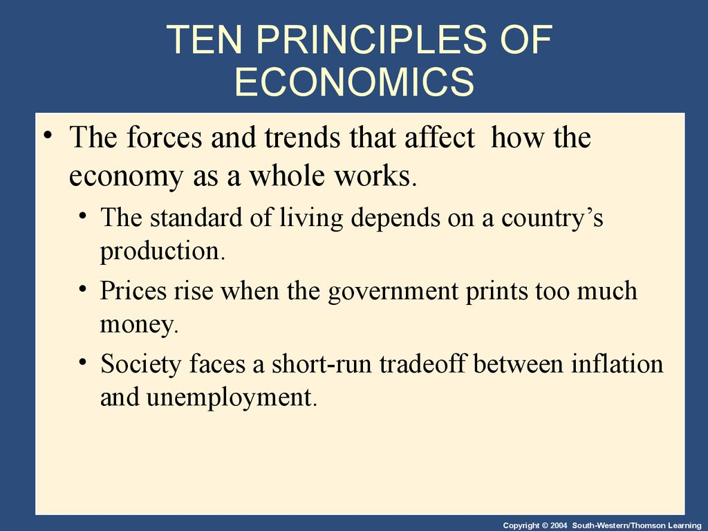 TEN PRINCIPLES OF ECONOMICS