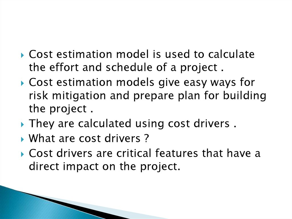 Software metrics using constructive cost model - online
