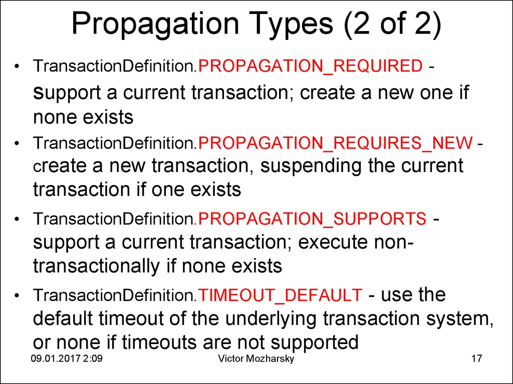 Propagation Types (2 of 2)