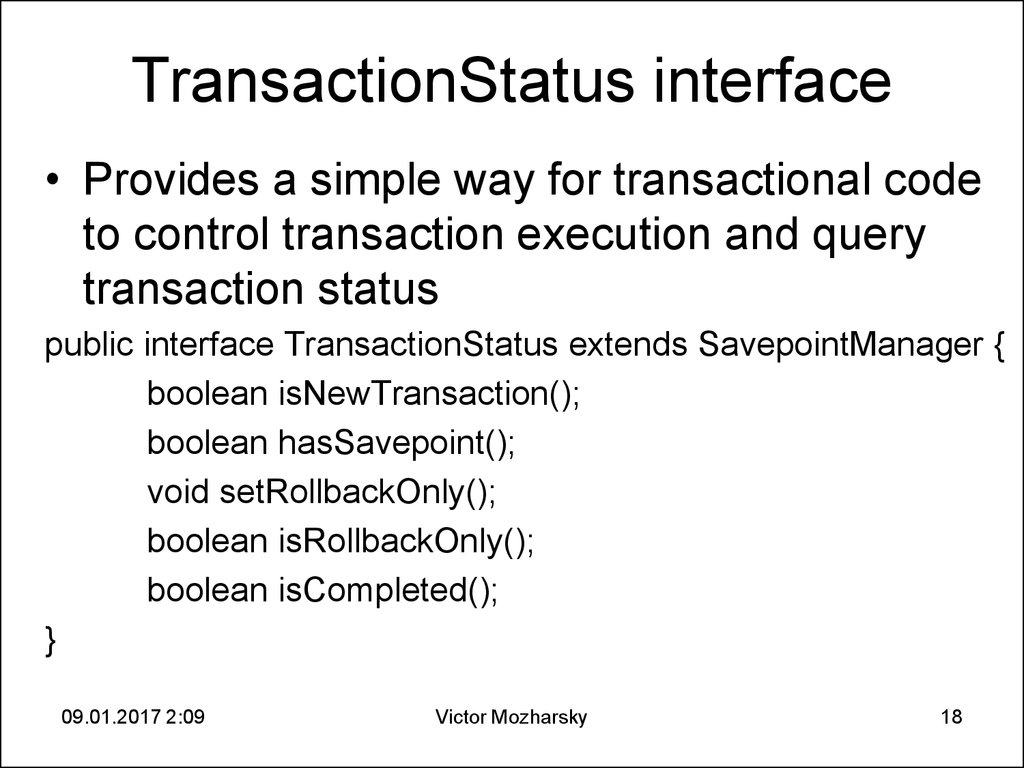 TransactionStatus interface