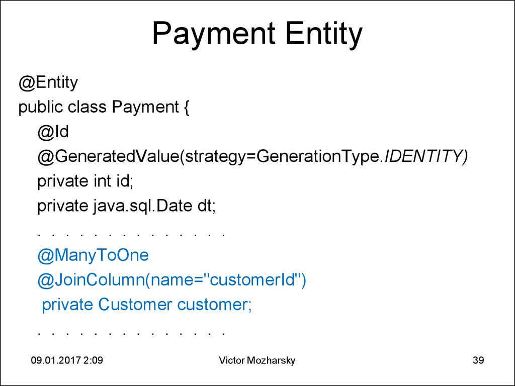 Payment Entity