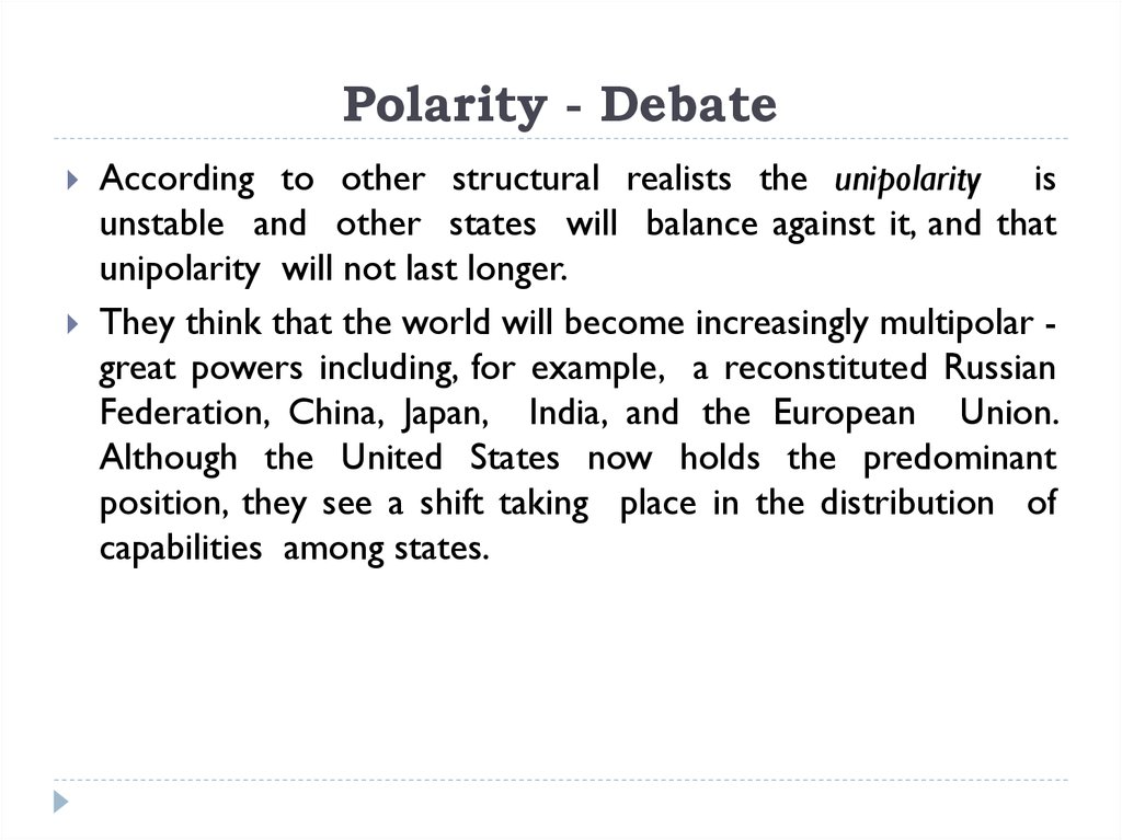 Polarity - Debate