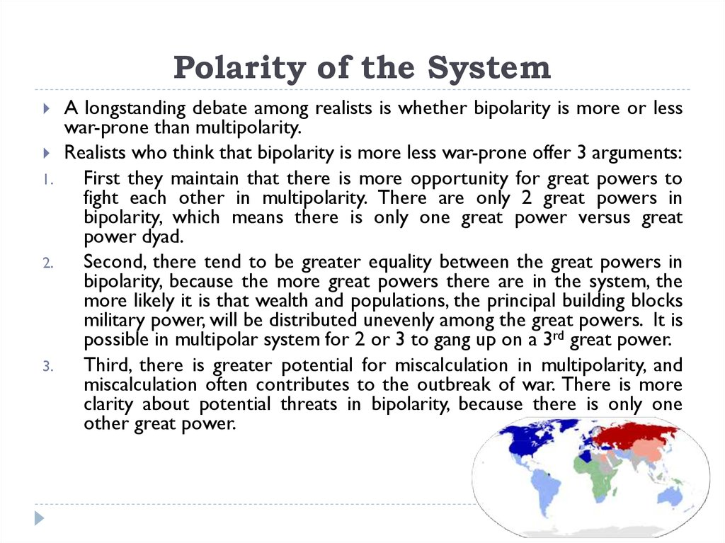 Polarity of the System