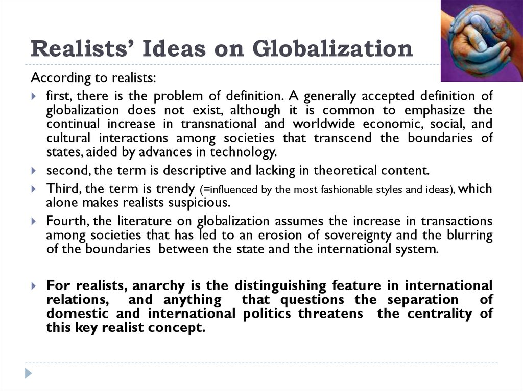 Realists' Ideas on Globalization