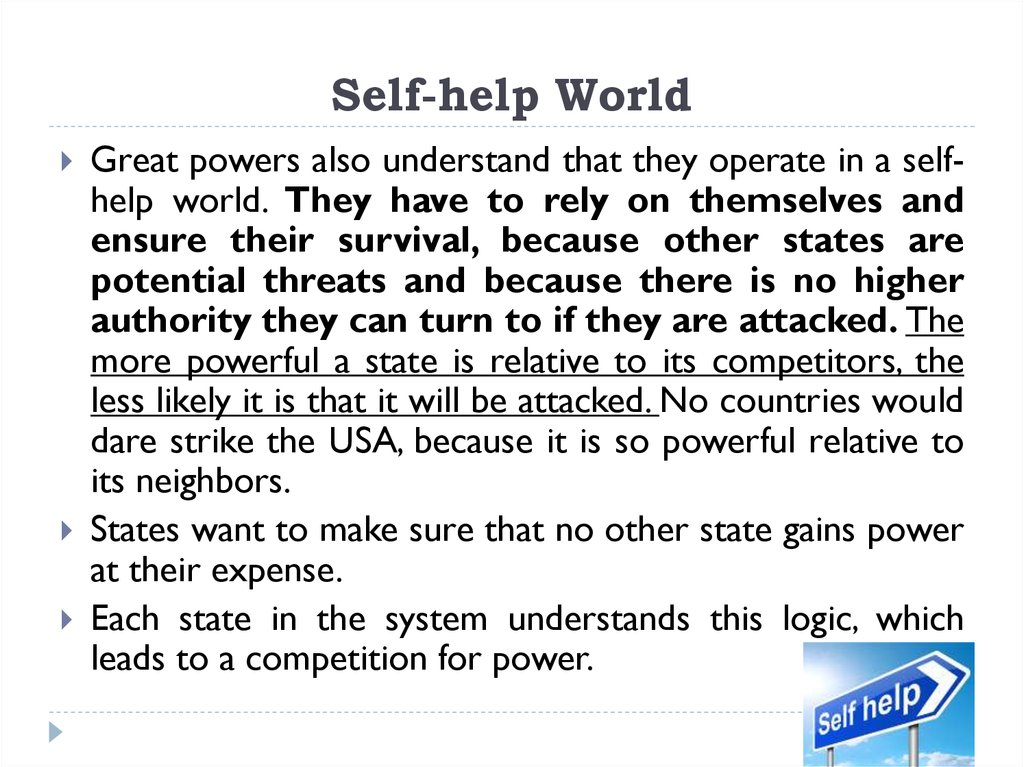 Self-help World