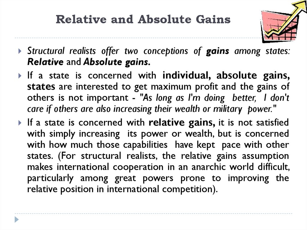 Relative and Absolute Gains