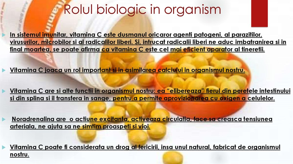 Rolul biologic in organism